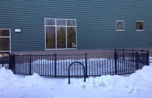 Installing ornamental fence