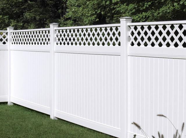 new lexington fence with Lattice Accent