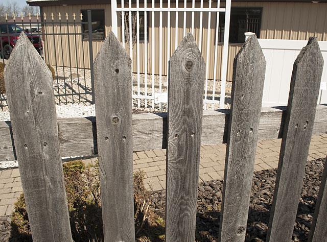 Wood picket fences