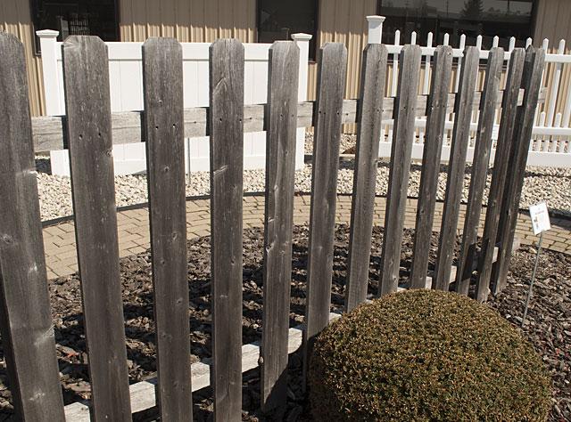 Dog Eared Wood picket fences