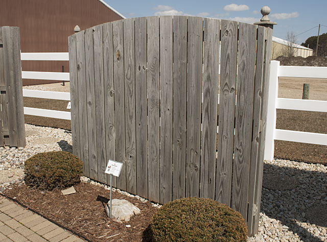 Semi Privacy Fence In Wood Rails By 1 Fencing Contractor